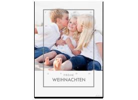 """Adventskalender """"Festlichkeit"""" (DIN A4) mit Ihren Fotos grau"""