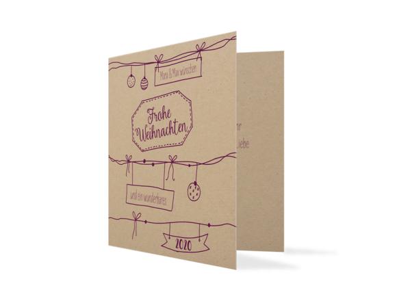 Weihnachtskarte Sketchy (quad. Klappkarte - 2020)