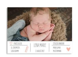 Geburtskarte Lena/Lars (Postkarte)
