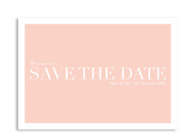 Save the Date-Karte Nizza Apricot