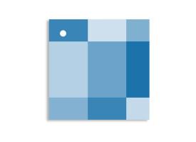 Geschenkanhänger Stockholm (quadratisch) Blau