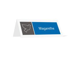 Tischkarten Athen Blau