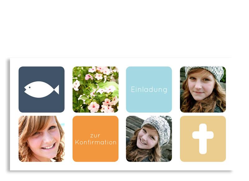 konfirmationseinladung ava/avery | familiensache, Einladungen