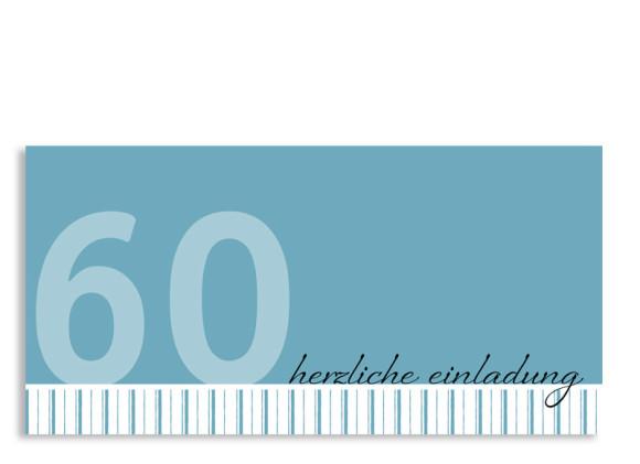 Einladung zum 60. Geburtstag Stripes 2 (Postkarte)