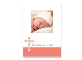 Taufkarte Karolina/Karell (Postkarte) Apricot