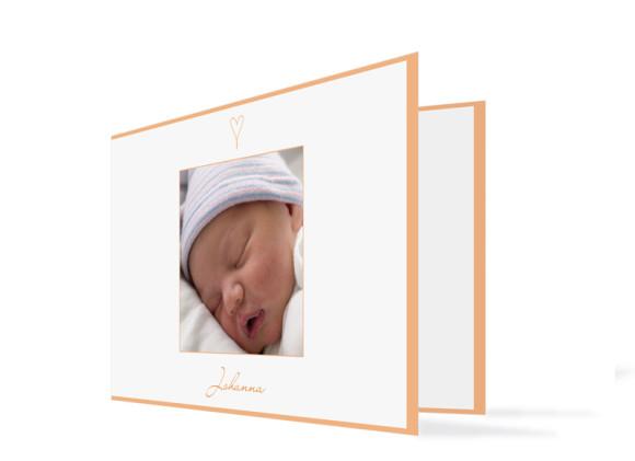 Geburtskarte Johanna/Jacob (Klappkarte)