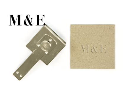 """Textplatte für Prägezange """"Weimar"""" (Textplattenhalter und Prägeplatte ca. 50 x25 mm)"""