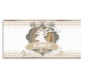 Einladungskarte Wiesn (Postkarte) Beige