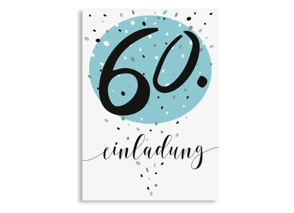 Einladung zum 60. Geburtstag Konfetti