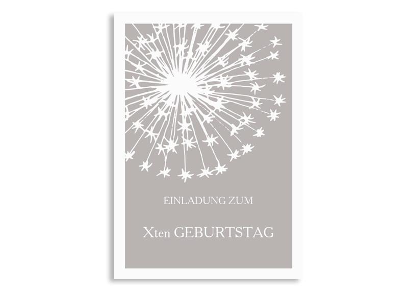 Einladungskarten Zum Geburtstag Pusteblume Pastell