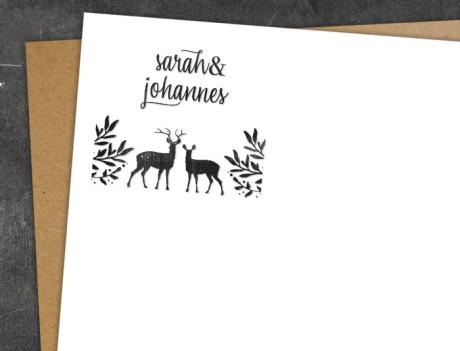 Stempel zur Hochzeit Hirsch