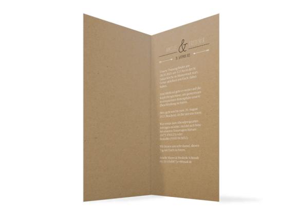 Einladung zur Hochzeit (Klappkarte DL hoch - ohne Foto), Motiv: Rotterdam Natural, Innenansicht, Farbvariante: schwarz