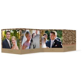 Foto-Leporello zur Hochzeit Rokko (Gastgeschenk) Beige/Braun