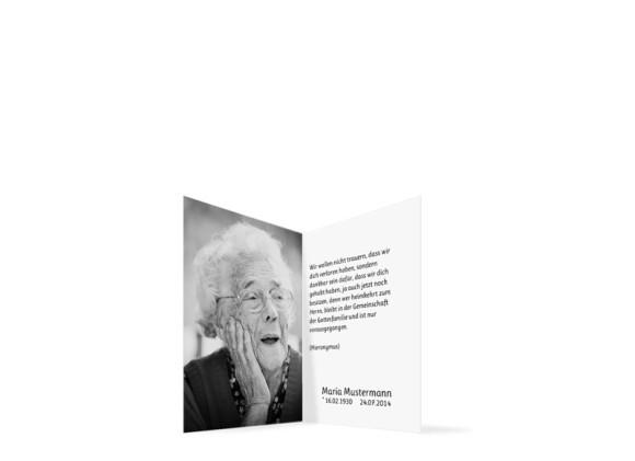 Sterbebilder Federn, Innenansicht der Farbversion: grau