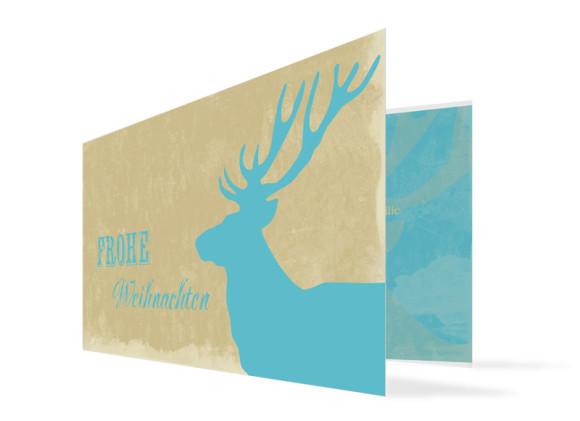 Weihnachtskarte Holy Moose (Klappkarte, DL)