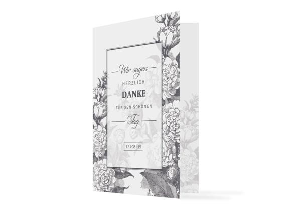 """Danksagungskarten Hochzeit """"Bukarest"""""""