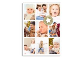 Weihnachtspostkarte LoopyChristmas Beige