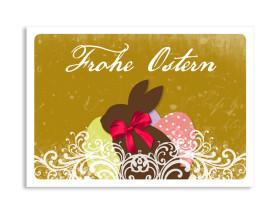 Ostergrüße Vintage Hase (Postkarte) Beige
