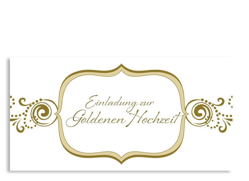 Einladung Goldhochzeit Goldene Zeiten (Postkarte) ...