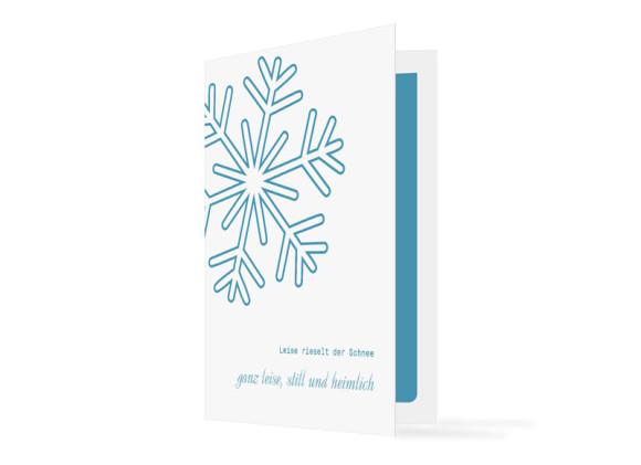 Weihnachtskarten Eiskristall (Klappkarte)