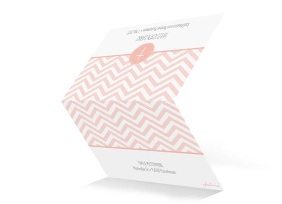 Danksagungskarte zur Konfirmation Hamptons Cross, Außenansicht in Apricot