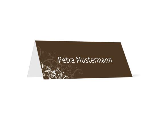 Tischkarte zur Hochzeit Wien (Klappkärtchen quer)