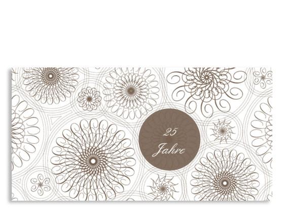 Einladung Silberhochzeit Mandala (Postkarte)