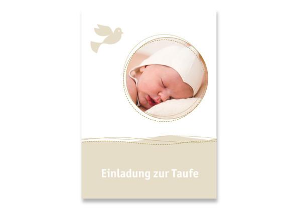 Taufkarte Deborah/Darius (Postkarte mit Foto)