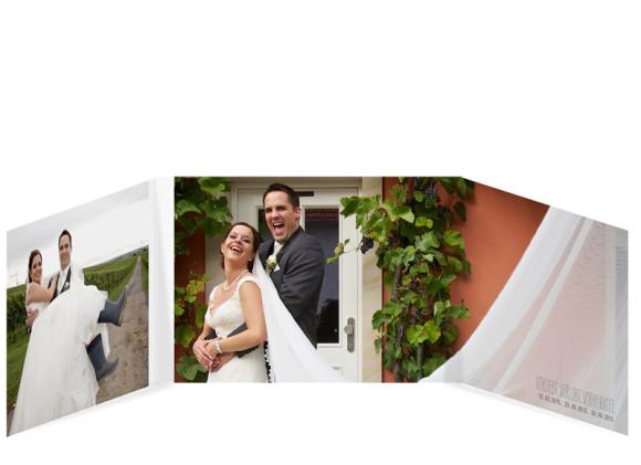 Danksagungskarte zur Hochzeit Blanche, Innenansicht der Farbversion: weiß