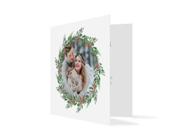 Weihnachtskarten Wintereinzug Klappkarte quadratisch (300 x 150 mm)