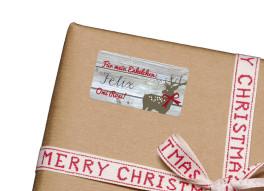 Geschenkaufkleber Christmas Deer (Etikett)