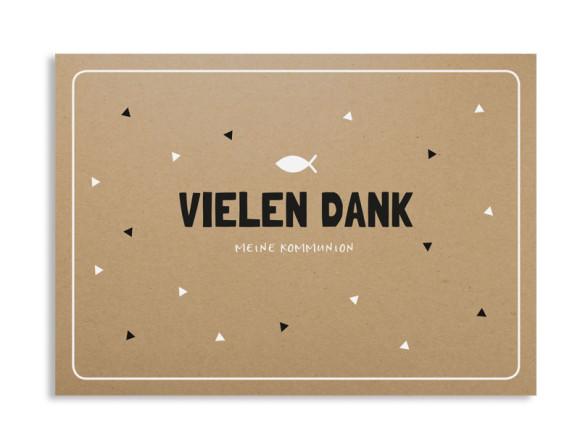 """Kommunionsdanksagung """"Farbenfroh"""" (Postkarte mit Foto)"""