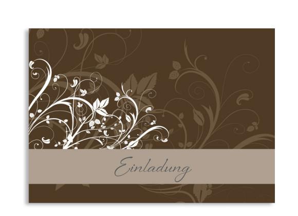Einladungskarte Blümchen (Postkarte A6)