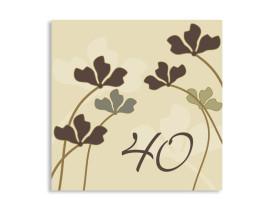 quadratische Einladung Growing zum 40. Geburtstag Beige