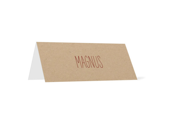 Tischkarten zur Hochzeit Nature (Klappkärtchen quer)