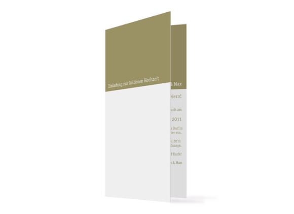 Einladung Goldhochzeit Colour (Klappkarte ohne Foto, hochkant)