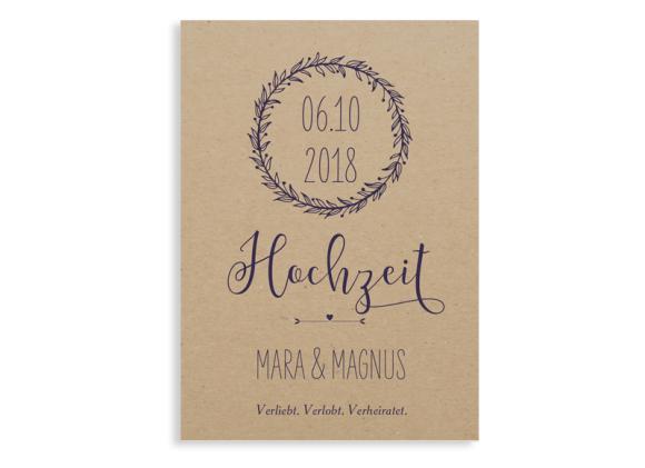 Einladung zur Hochzeit Nature