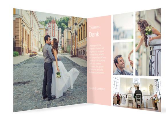 Danksagung zur Hochzeit Boxes, Innenansicht in Apricot