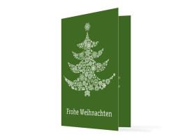 Firmen-Weihnachtskarte Weihnachtsbaum Grün