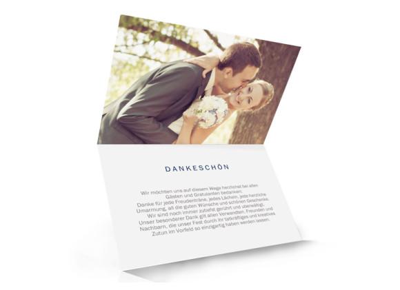 Hochzeitsdanksagungen Brüssel, Innenansicht in blau