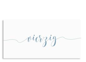 Calligraphy Zum 40. Petrol. Einladung ...