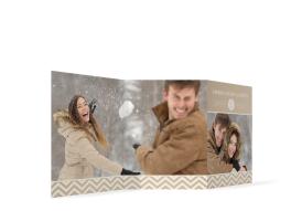 """Foto-Weihnachtskarte """"Zickzack"""""""