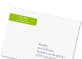 Adressbanderole Sternchen Apfelgrün