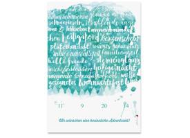 Adventskalender Skript Grün