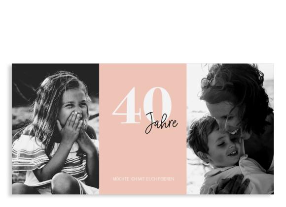 """Einladungskarte zum 40. Geburtstag """"Zeitreise"""""""