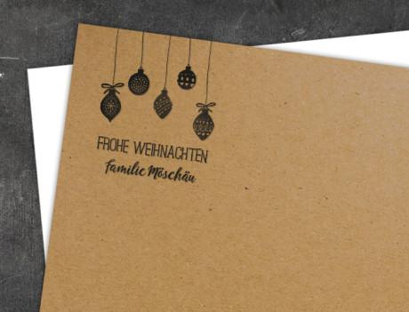 Weihnachtsstempel Christbaumkugeln