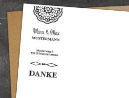 Hochzeit Adress-Stempel Heidelberg