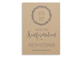 Einladungskarten zur Konfirmation Nature Grau