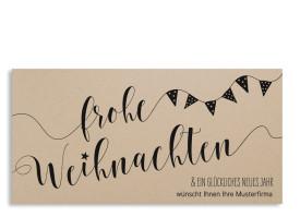 Firmen-Weihnachtskarte Weihnachtsparty (Postkarte) Schwarz