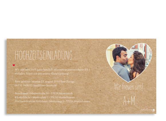 Einladung zur Hochzeit Luzern, Rückseite der Farbversion: beige